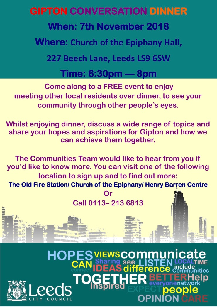 Conversation Dinner Flyer Oct 2018